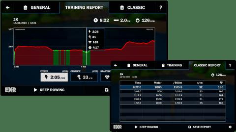 EXR game statistics